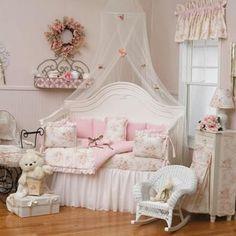 What a cute room for a little girl!