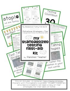 This is a motivational kit for you and your students that will get them pumped up for the upcoming state test. This includes:*test taking strate...