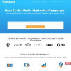 Wishpond.com offers social marketing apps including tools to create Pinterest contests.