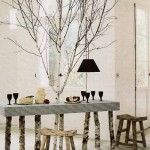 Decoration ideas with wood slices