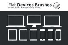 iFlat Devices Brushes by YD-LABS on Creative Market