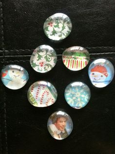 Christmas Handmade Glass Magnets Can be Made by GorgeousGlassware, $5.00