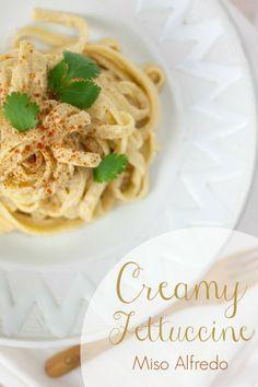 Creamy Fettuccine Miso Alfredo | Produce On Parade ... Easy, lightened ...