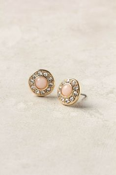 Pave Button Posts via Anthropologie
