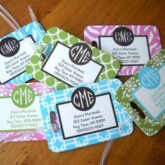 Personalized Address/Luggage Tags