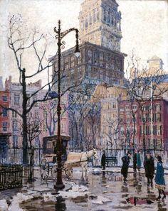 Felicie Howell (American, 1897-1968)   Gramercy Park, New York, 1920.