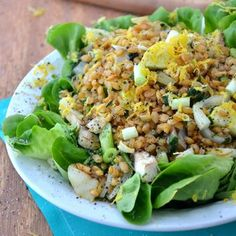 Vidalia Onion Teff Salad With Lemon Poppy Seed Dressing #glutenfree