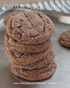 Chocolate Sugar Cookies-so simple yet so good!