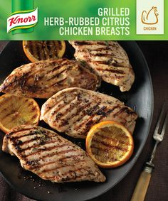Grilled Herb-Rubbed Citrus Chicken Breasts: http://whatsfordinner ...
