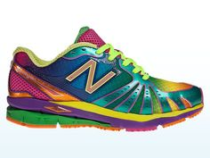 Rainbow shoes! Bring 'em back, New Balance!! Why they make these in MEN'S sizes is beyond me...how much of a men's market can there be for rainbow shoes as compared with a women's market?