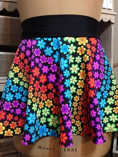 FLORAL RAINBOW! Super Cool Costume Running Skirt!  Perfect for your next race and upcoming Disney race or themed race!