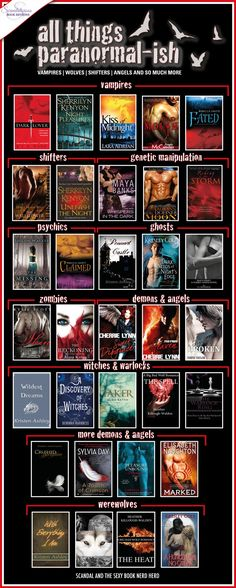 Look at all those paranormal books!! Episode 23 is all things paranormal!! Scandal and the Sexy Book Nerd Herd - enjoy!