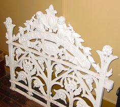 Antique cast iron garden gate---ZIMMERMANN---1894 from sydowsantiques on Ruby Lane