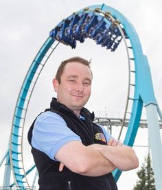 The guest services manager has been testing rides since 2009 and has described it as his 'dream job'
