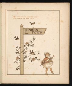 This is the way to London Town | Source: Library of Congress, Rare Book and Special Collections Division | #illustrated #London