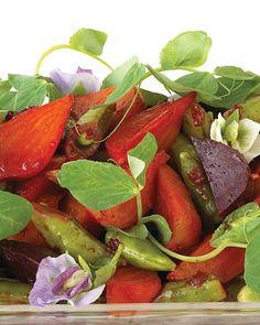 Baby Beet Salad with Sugar Snap Peas