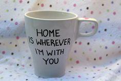 Long distance love mug