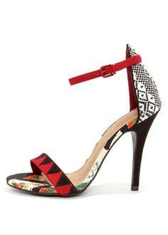 statement heel, fashion shoes, ginger, chines laundri, ankl strap, strap heel, black white, la paz, heels