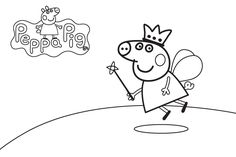 Dibujo para colorear de Peppa Pig (nº 14)