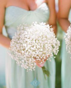 Bridesmaid Baby's Breath Bouquets
