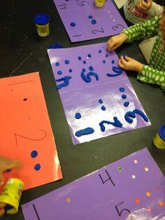 Easy Play dough Number Mats | Mrs. Cardenas' Bilingual Prek Classroom