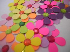 25 Flowers With Rhinestones center by ang744 on Etsy, $2.25