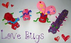 Egg Carton <3 Love Bugs <3