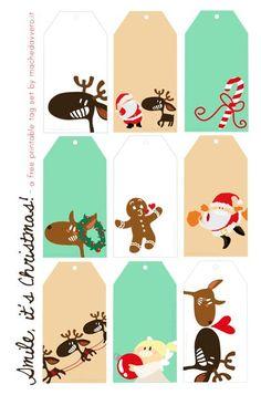 FREE printable funny Xmas gift tags