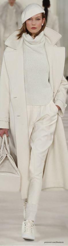 Ralph Lauren ● Fall 2014 moda, fashion weeks, cloth, winter white, ralph lauren fall 2014, new york fashion, winter chic, coat