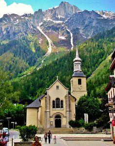 ~Chamonix, France, St. Michel Church, French Alps |