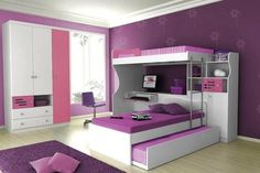 girl bedroom, decor, idea, dream room, kid rooms, purpl bedroom, purple bedrooms, bedroom designs, girl rooms