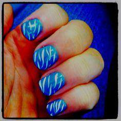 blue with zebra strips :)