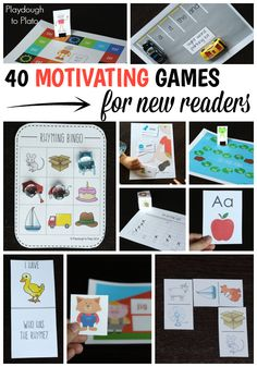 Teach kids how to read with this easy to follow, fun to play game pack. The activities make awesome literacy centers or at-home reading program!!