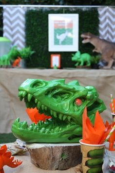 Dinosaur Birthday Party decorations! See more party ideas at CatchMyParty.com!