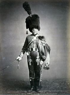 Quartermaster Fabry, 1st Hussars. This image of the french napoleonic vet was taken in 1857.