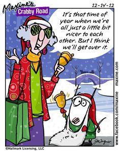 comic, maxin cartoon, gotta, crabbi road, christmas, humor, friend, maxin funni, christma spirit