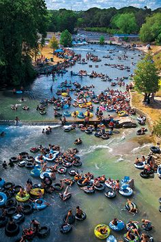 Texas Highways Top 40 Travel Destinations - No. 9 - New Braunfels. Tubing down its rivers and the rich German culture place New Braunfels at No. 9 in our Readers' Choice Texas Top 40 Travel Destinations list. #TxTop40 #Travel