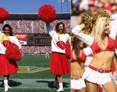 NFL cheerleaders then & now