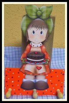 Porta pano de prato Cozinheira | Ateliê dos Curiosos | 2EDCA3 - Elo7