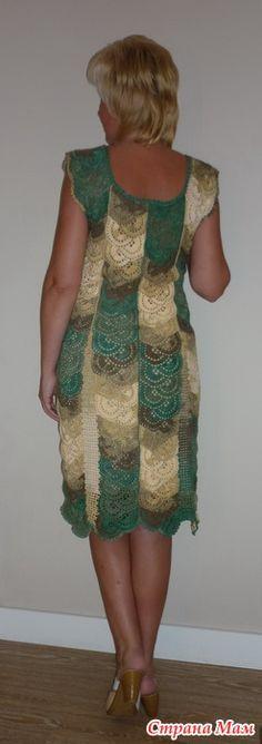 Вот такое платье получилось (а увлекательное это занятие - вязание ленточного кружева, как оказалось ;)) - Вязание - Страна Мам