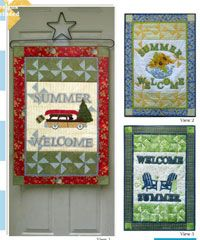 Welcome Summer Banner Pattern by Poorhouse Quilt Designs at KayeWood.com. Get ready for summer with this fun banner trio! Whether you like to get on the road or relax and watch the world go by, these easy designs will get you sewing in no time@ http://www.kayewood.com/item/Welcome_Summer_Banner_Pattern/3291 $12.00