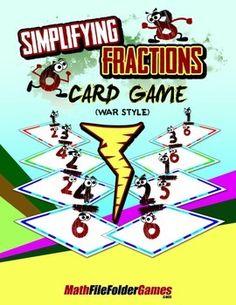 Simplifying Fractions Card Game (War Style) http://www.teacherspayteachers.com/Product/Simplifying-Fractions-Card-Game-War-Style-1410336