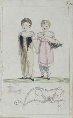 boy and girl. c1800 Journal des Luxus und der Moden?