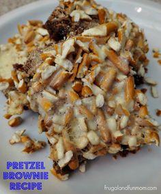 Pretzel Brownie Recipe! An EASY Sweet and Salty Crunchy Dessert! #Recipe #EASY #DIY #Brownies