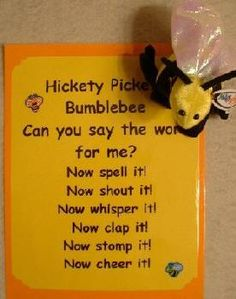 Cute rhyme/chant to practice sight words.