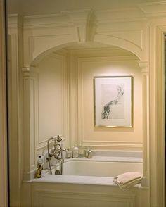 bathroom design, bathtub alcov, master bathtub, beauti master, beauti millwork, alcove, master baths, bathroom decor, small bathtubs