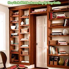 How To Build A Bookcase, Step by Step Guide - Living Green And Frugally #diy