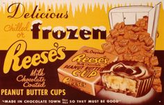 1950's  reese's peanut butter cup advertisment