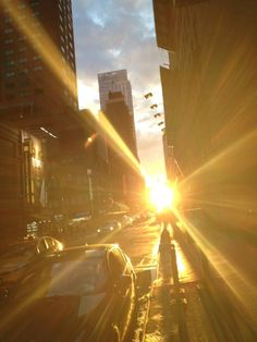 Twice a year, the sunset aligns with Manhattan's street grid.
