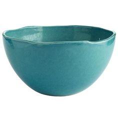 Ceramic Turquoise Crackle Bowl